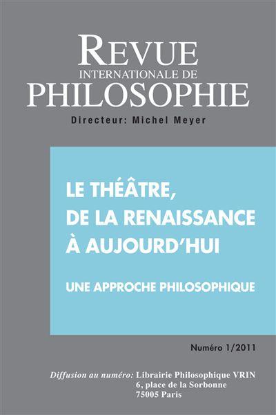 Le theatre de la renaissance a aujourd'hui