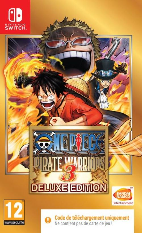 One Piece Pirate Warriors 3 Deluxe Edition Code in the Box Nintendo Switch