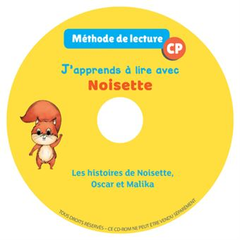 J'apprends a lire avec noisette cp cd audio