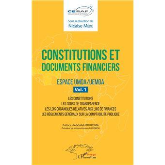 Constitutions et documents financiers,01:espace umoa/uemoa