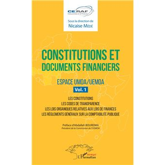 Constitutions et documents financiers,01:espace umoa/uemoa