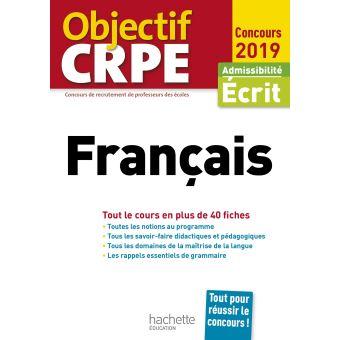 Objectif CRPE Fiches Français 2019