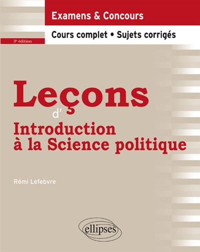 Leçons d'introduction à la science politique