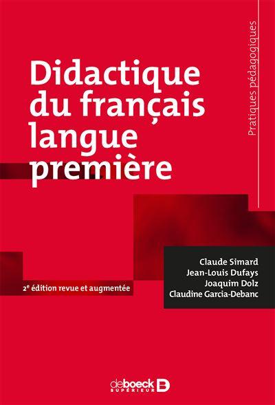 Première Français Édition Broché Langue 2ème Didactique Du ucKF1J3Tl