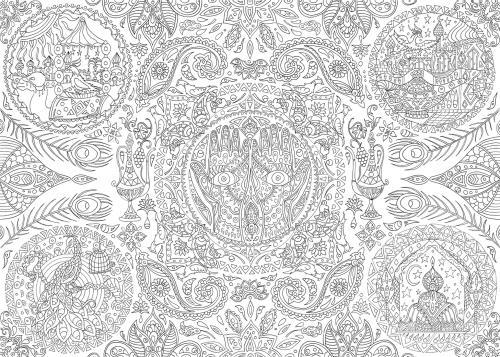 Coloriage Mandala Geant.Ateliers Du Calme Colo Geant Mandalas 1001 Nuits