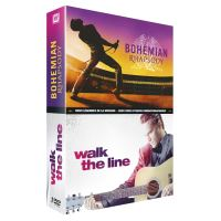 Coffret Bohemian Rhapsody et Walk the Line DVD