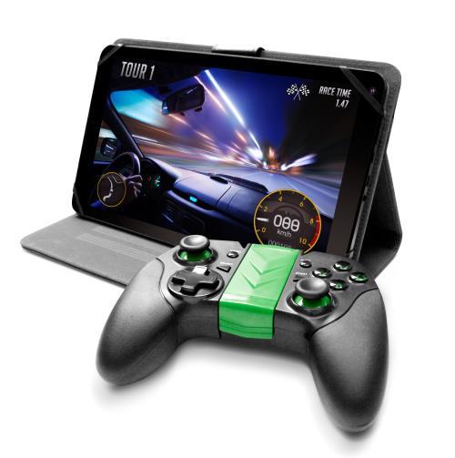 Pack Logicom Gaming Tablette L-Ement Tab 1043 10.1 8 Go WiFi Noir + Manette Bluetooth + Portfolio avec position stand
