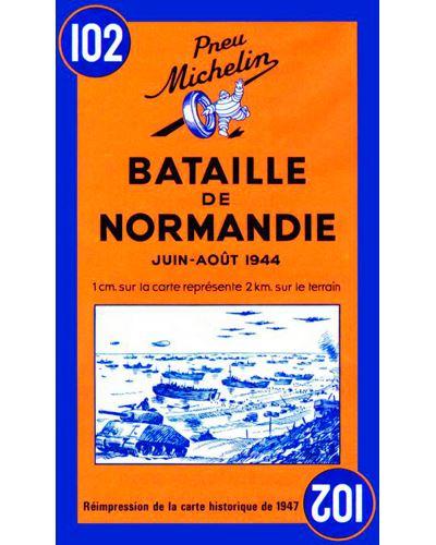 Carte Bataille de Normandie juin-août 1944 Michelin