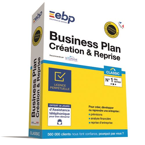 EBP Business Plan Création Reprise Classic Dernière version Ntés Légales incluses