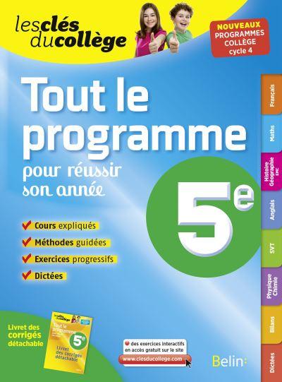 Tout Le Programme 5e Broché Collectif Achat Livre Fnac