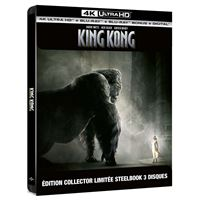 King Kong Steelbook Edition Collector Limitée Blu-ray 4K Ultra HD