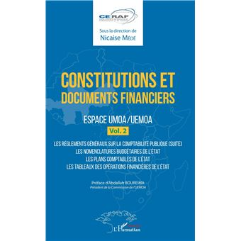 Constitutions et documents financiers,02:espace umoa/uemoa