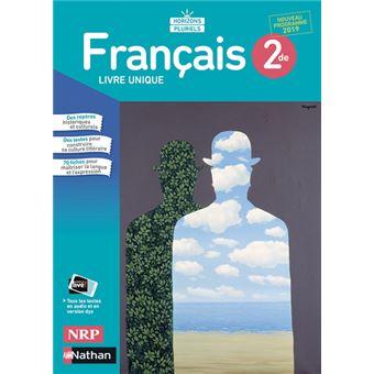 Francais 2de Manuel 2019