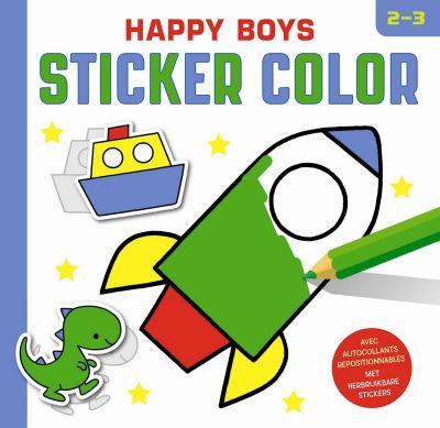 Happy boys sticker color (2-3 ans)