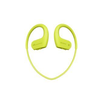 Lecteur MP3 Casque Sport Sony NWWS623 4 Go Bluetooth NFC Jaune