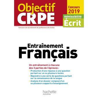 Objectif CRPE Entrainement Français 2019