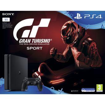 PS4 1TB Black + GT Sport