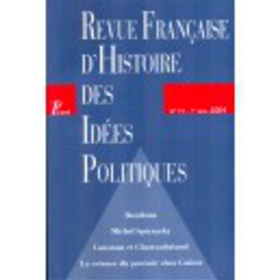 Revue française d'histoire des idées politiques