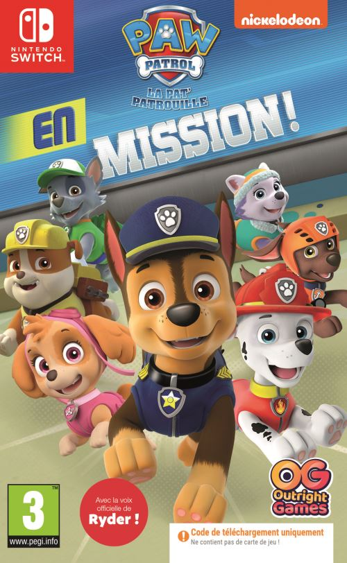 Paw Patrol En Mission Code in the box Nintendo Switch