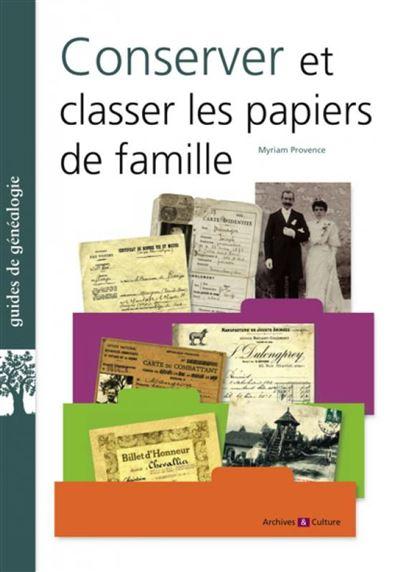 Conserver et classer ses papiers de famille
