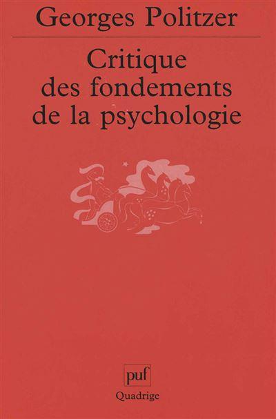 Critique des fondements de la psychologie