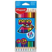 Pochette 12 crayons de couleurs Maped Colorep'S Duo