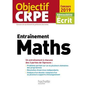Objectif CRPE Entrainement Maths 2019
