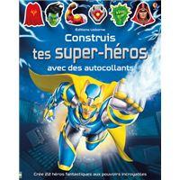 Construis tes super-héros avec des autocollants