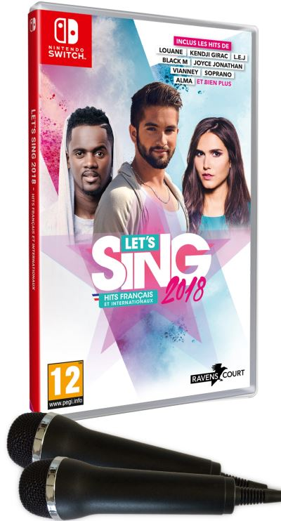 Let's Sing 2018 Nintendo Switch + 2 microphones
