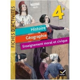Fiches D Activites Histoire Geographie Emc 4e Ed 2017