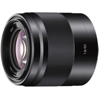 Objectif hybride Sony 50MM F/1.8 OSS Noir pour NEX