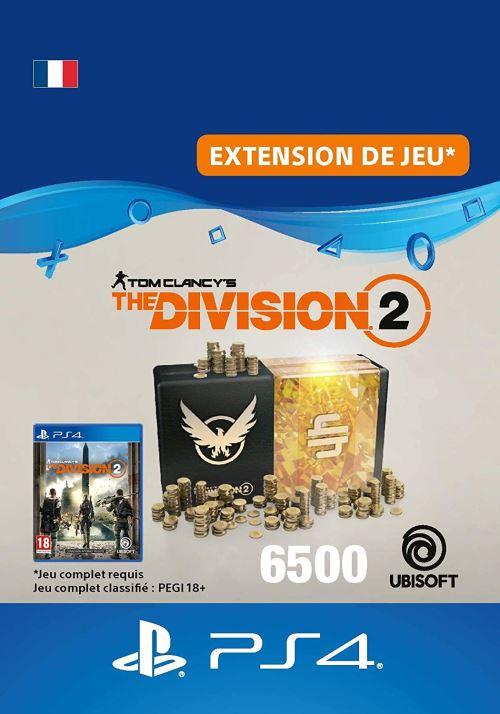 Code de téléchargement Tom Clancy's The Division 2 Pack de 6500 Crédits Premium PS4