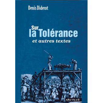 Sur la tolérance