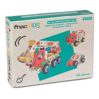 Kit de construction 3-en-1 Fnac Kids 155 pièces