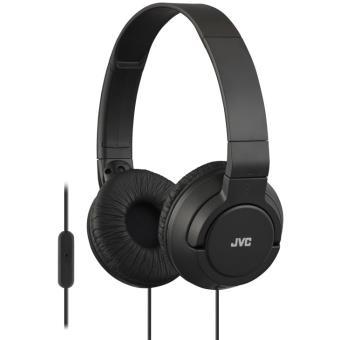 JVC HA-SR185 - In-ear bedrade headset met microfoon en geïntegreerde afstandsbediening - zwart
