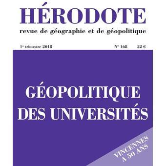 Hérodote numéro 168 Géopolitique des universités