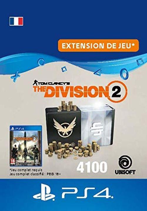 Code de téléchargement Tom Clancy's The Division 2 Pack de 4100 Crédits Premium PS4