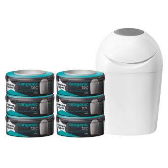 Pack Poubelle A Couches Sangenic Tommee Tippee 6 Recharges