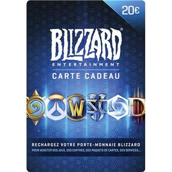 Carte Cadeau Wow.Code De Telechargement Carte Cadeau Blizzard Entertainment 20