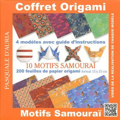 Coffret origami motifs samouraï