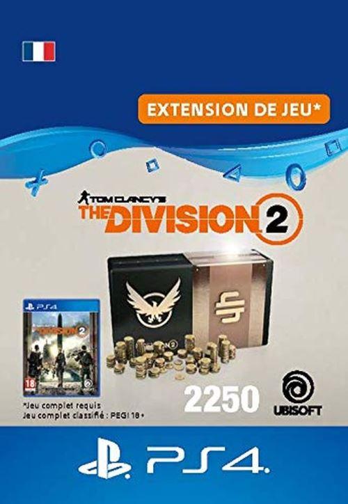 Code de téléchargement Tom Clancy's The Division 2 Pack de 2250 Crédits Premium PS4