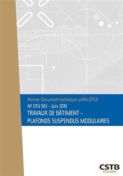 NF DTU 58.1 Plafonds suspendus