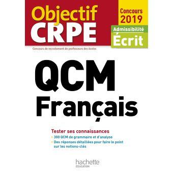 QCM CRPE : Français 2019