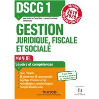 DSCG1 Gestion juridique, fiscale et sociale - Manuel - Réforme 2019-2020