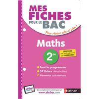 Mes fiches pour le BAC Maths 2de