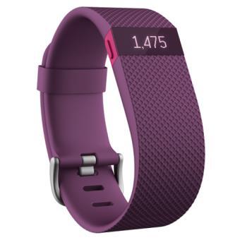Bracelet Connecté Fitbit Charge HR , Prune , Taille L