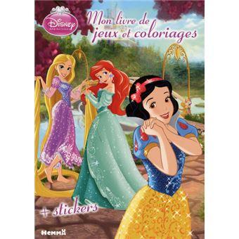 Disney princesses livre avec stickers blanche neige - Jeux de ariel et son prince ...