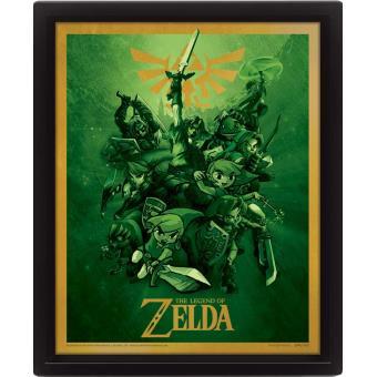 Cadre 3d lenticulaire the legend of zelda link jeux for Achat maison zelda