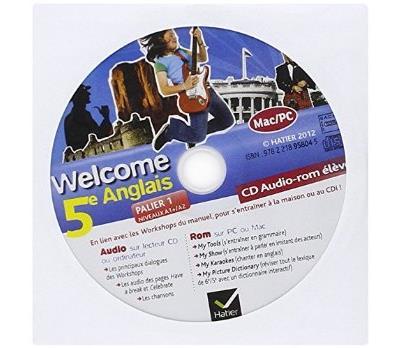Welcome Anglais 5e éd. 2012 - CD audio-rom élève (de remplacement)