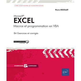Excel, Macros et programmation en VBA